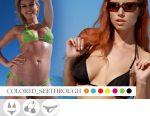 Bikini-Divissima-primavera-estate-Colored-Seethrough