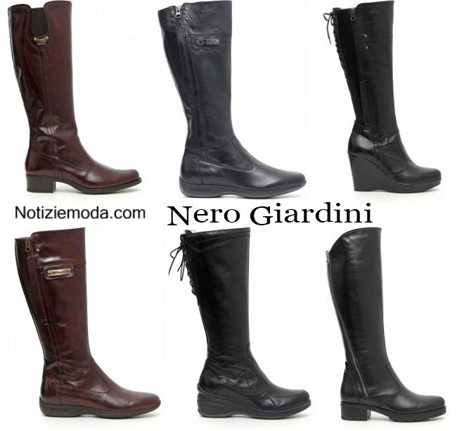 Accessori nero giardini calzature autunno inverno donna - Stivali nero giardini autunno inverno 2015 ...