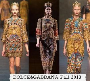 Video sfilata Dolce Gabbana autunno inverno 2013 2014 donna