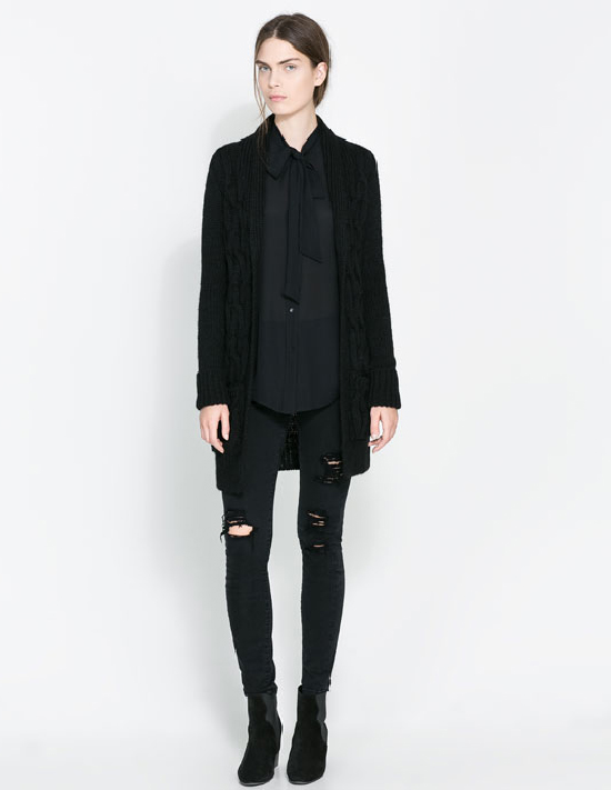 Catalogo donna tendenze abbigliamento look Zara 2013 2014