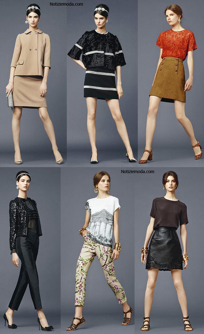 Look Dolce Gabbana primavera estate 2014 abbigliamento donna