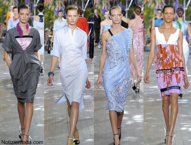 Abiti Christian Dior primavera estate 2014 moda donna