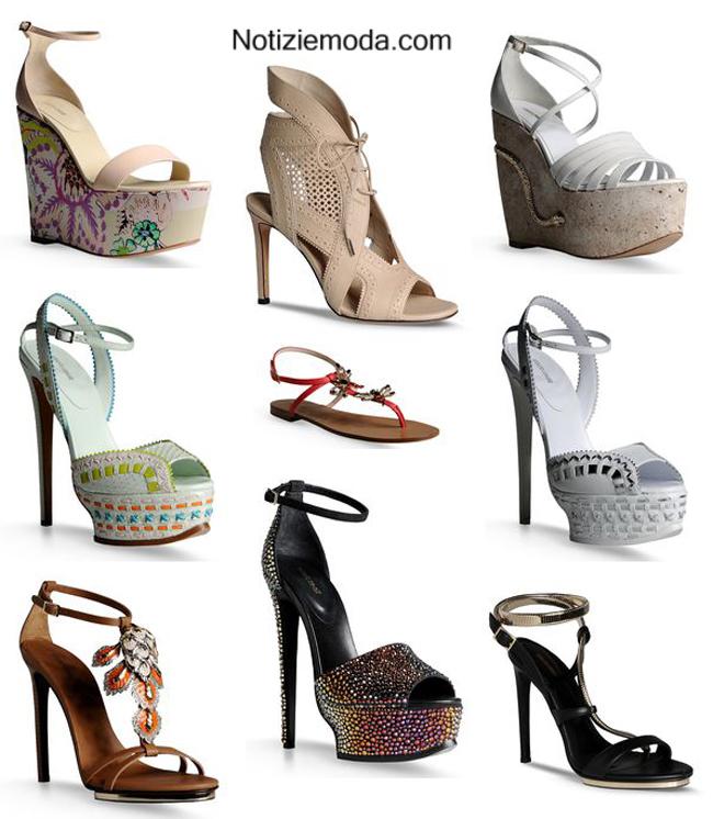 Accessori donna calzature Roberto Cavalli primavera estate 2014