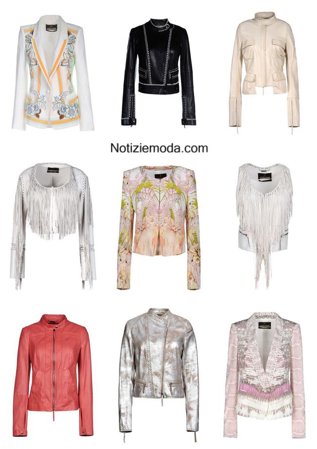 Accessori donna giacche Roberto Cavalli primavera estate 2014