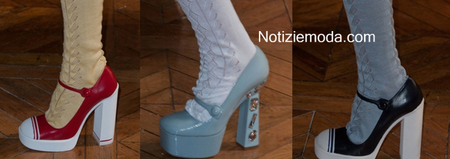 Scarpe Miu Miu primavera estate 2014 moda donna look