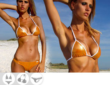 Bikini Divissima primavera estate belen orange