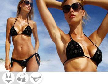 Bikini Divissima primavera estate blanche nero