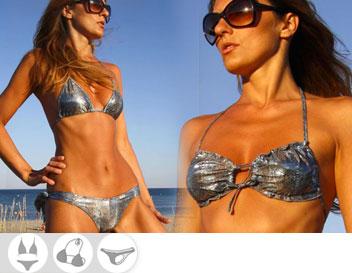 Bikini Divissima primavera estate pyton blue