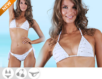 Bikini Divissima primavera estate tania bianco