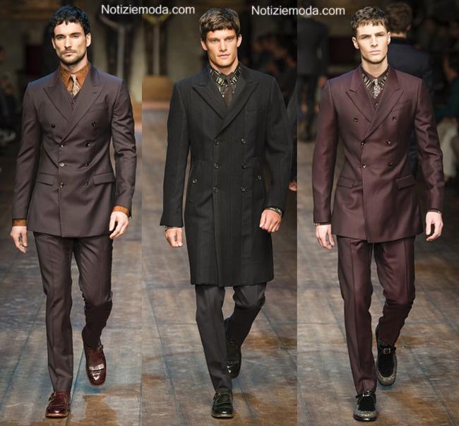 Collezione Dolce Gabbana autunno inverno 2014 2015 uomo