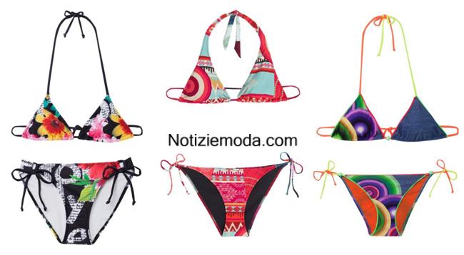 Costumi bikini Desigual estate 2014 moda mare