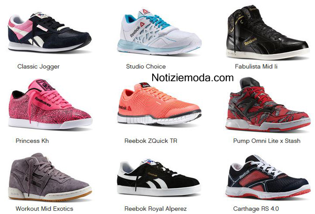 Look Reebok scarpe primavera estate 2014