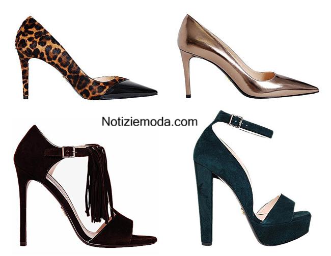 Collezione Prada scarpe autunno inverno 2014 2015
