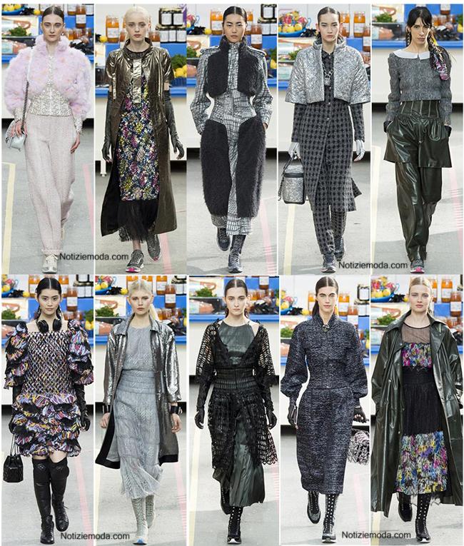 Look abiti Chanel autunno inverno 2014 2015 abbigliamento