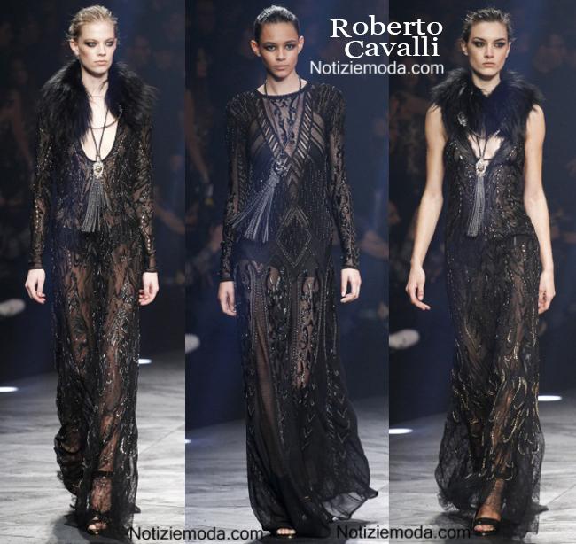 Look vestiti Roberto Cavalli autunno inverno 2014 2015