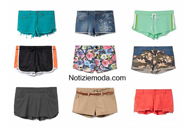 Moda mare shorts Tezenis estate 2014 donna