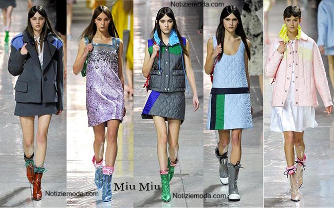 Stivali Miu Miu autunno inverno 2014 2015 moda donna