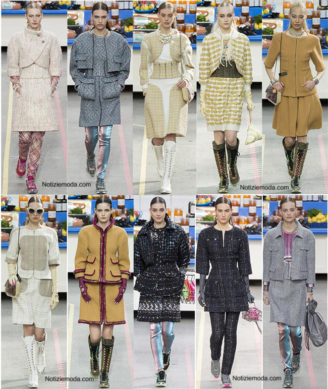 Tendenze Chanel autunno inverno 2014 2015 moda donna
