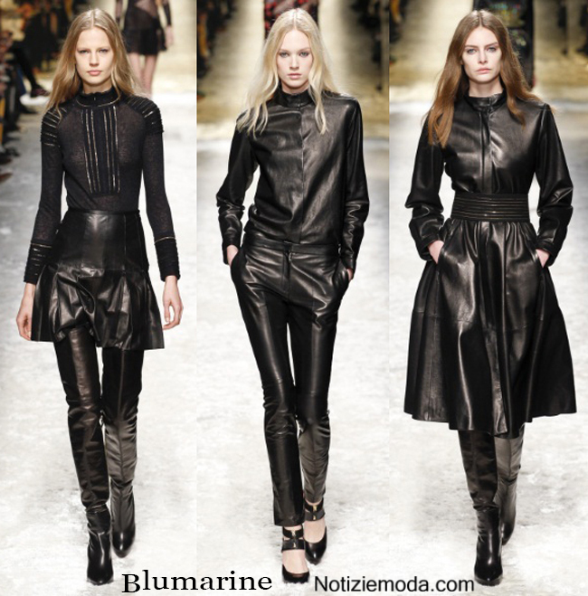 Outfit Blumarine in pelle nera autunno inverno
