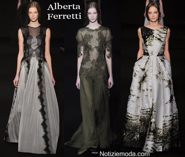Abiti Alberta Ferretti autunno inverno moda donna