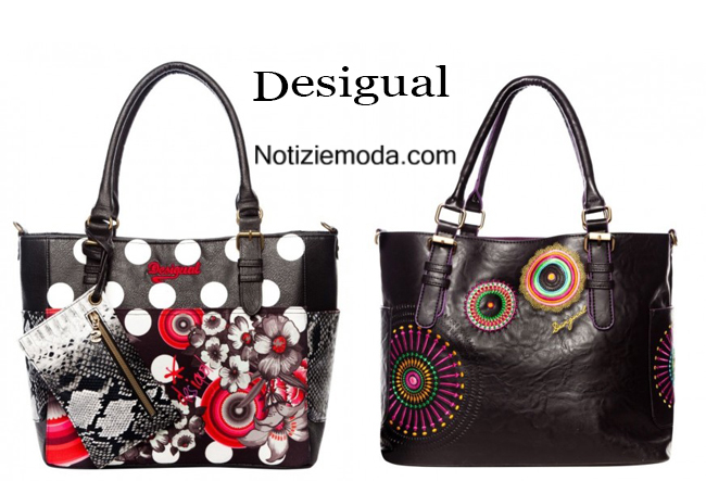 Look borse shopper Desigual autunno inverno 2014 2015