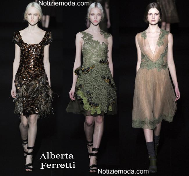 Look vestiti Alberta Ferretti autunno inverno 2014 2015