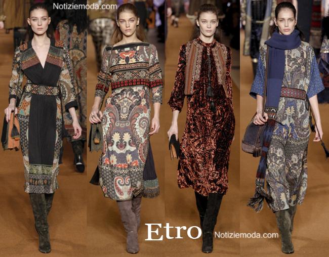 Abiti Etro autunno inverno 2014 2015 moda donna