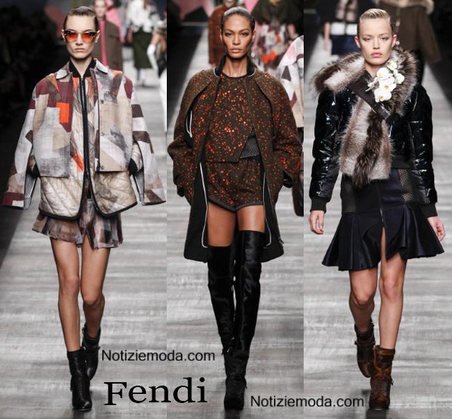 Look Fendi autunno inverno 2014 2015 moda donna