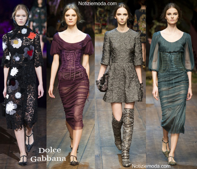 Vestiti Dolce Gabbana autunno inverno 2014 2015 moda donna