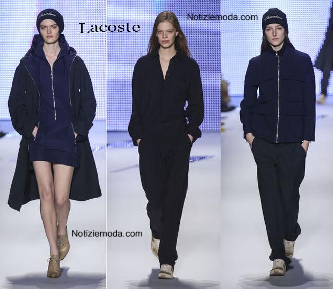 Look Lacoste autunno inverno 2014 2015 moda donna