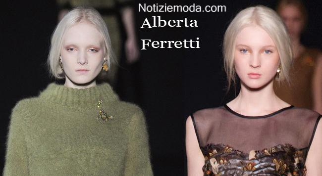Acconciature capelli Alberta Ferretti autunno inverno