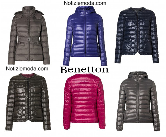 purchase cheap bb932 cbcdb Piumini Benetton autunno inverno 2014 2015 moda donna