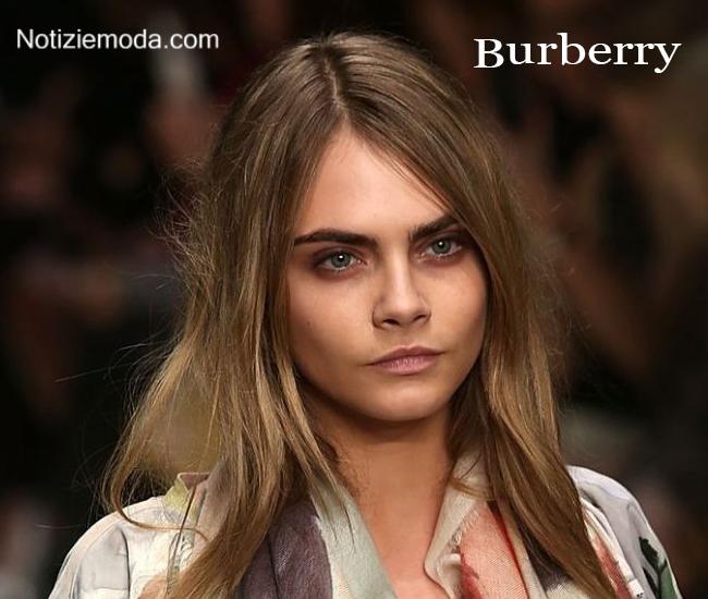 Makeup Burberry autunno inverno moda donna