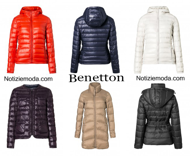 purchase cheap e9aaf ef060 Piumini Benetton autunno inverno 2014 2015 moda donna