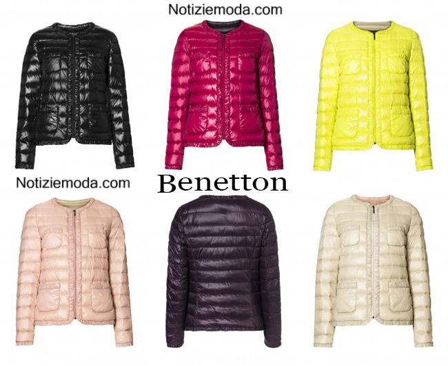 purchase cheap e9aaf ef060 Piumini Benetton autunno inverno 2014 2015 moda donna