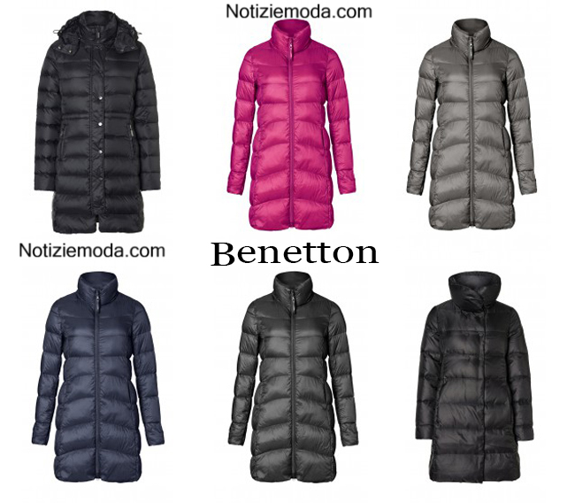 big sale 56808 00468 Piumini lunghi Benetton autunno inverno 2014 2015 donna