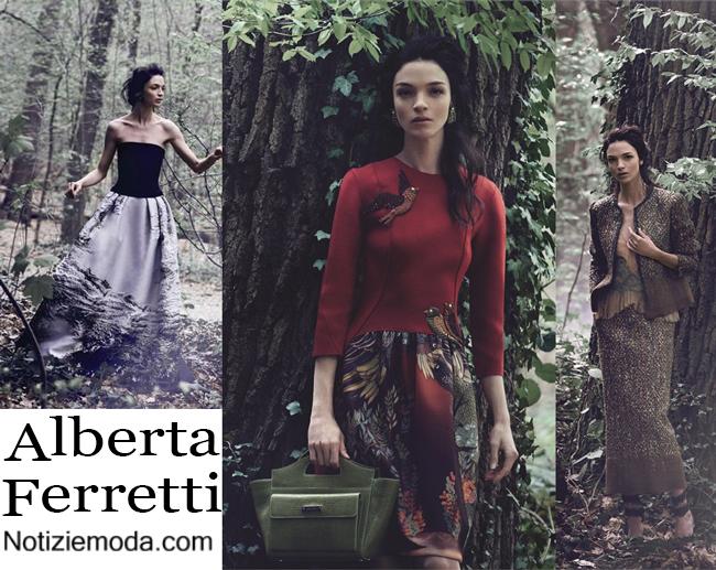 Campagna pubblicitaria Alberta Ferretti autunno inverno