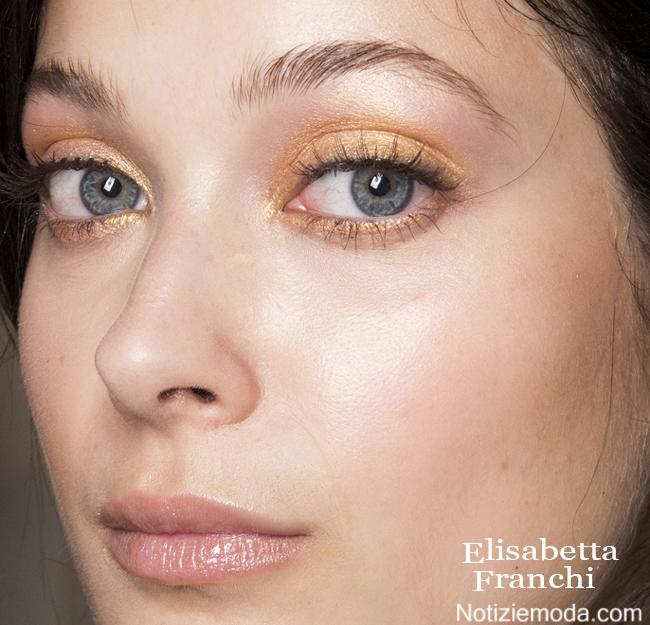 Makeup Elisabetta Franchi primavera estate moda donna