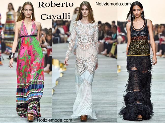 Abiti Roberto Cavalli primavera estate 2015 donna