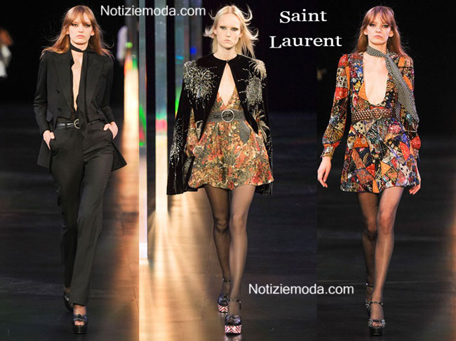 Abiti Saint Laurent primavera estate 2015 donna