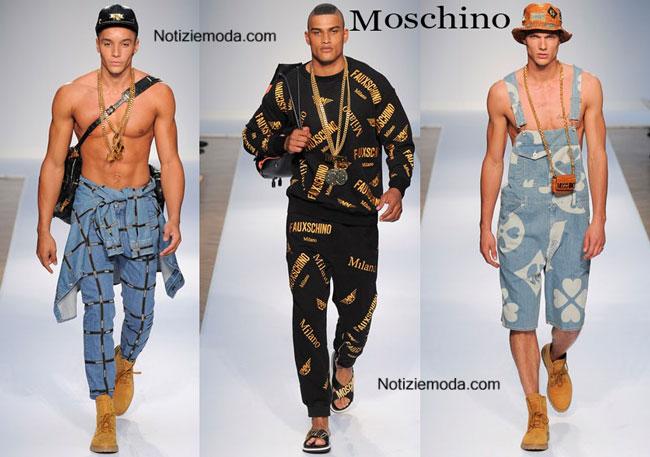 detailed look 9db19 ece8a Collezione Moschino primavera estate 2015 uomo
