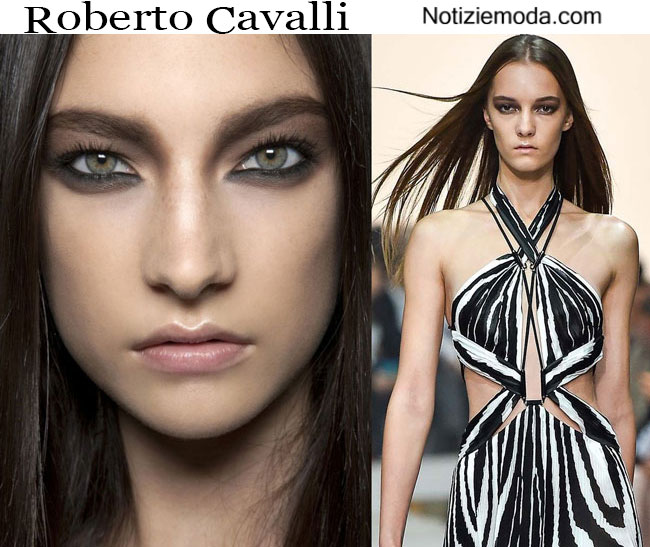 Makeup Roberto Cavalli primavera estate 2015 donna