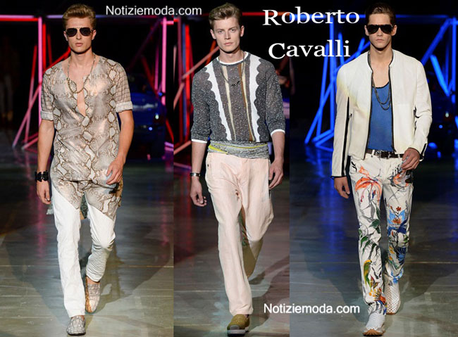 huge discount 99b56 69bfb Sfilata Roberto Cavalli primavera estate 2015 uomo