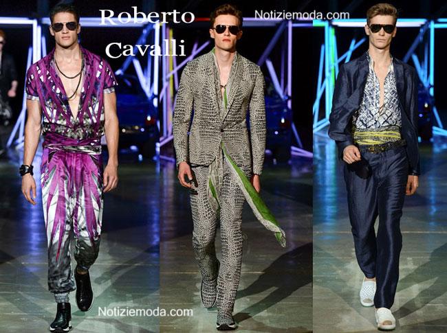 Sfilata Roberto Cavalli uomo primavera estate 2015