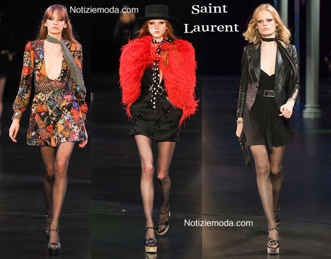 Sfilata Saint Laurent donna primavera estate 2015