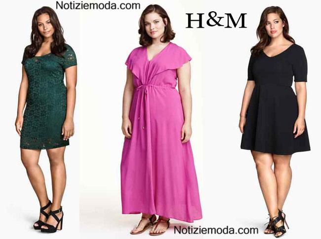 Abiti HM 2015 taglie comode moda donna
