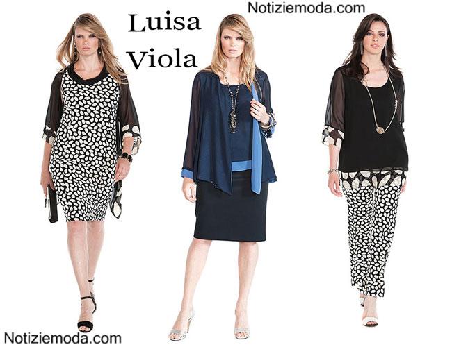 separation shoes ab119 11e1d Abiti Luisa Viola 2015 taglie comode moda donna