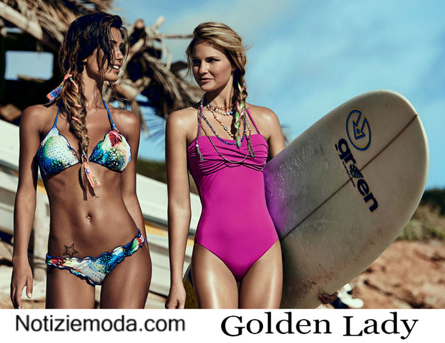 Collezione moda mare Golden Lady estate 2015