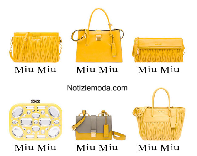 Handbags Miu Miu primavera estate 2015