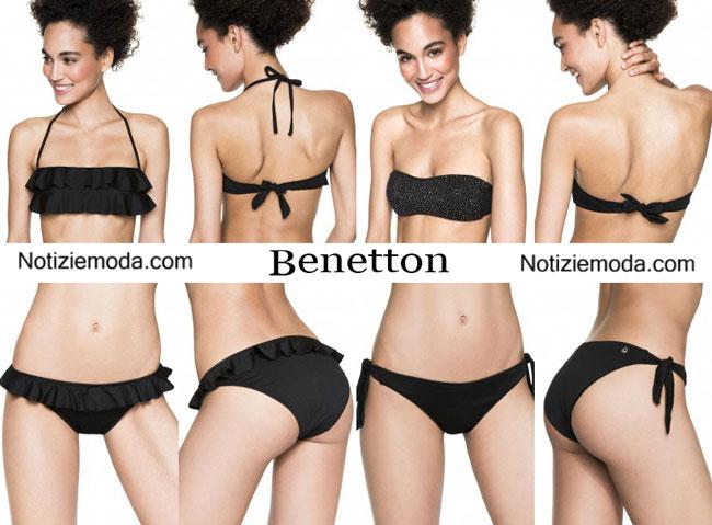 foto ufficiali afc08 1366b Moda mare Benetton estate 2015 costumi da bagno bikini